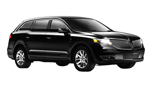Side view of Lincoln MKT Town Car available for rent from LimoRSVP in Chicago, IL