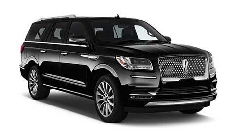 Side view of Lincoln Navigator available for rent from LimoRSVP in Chicago, IL