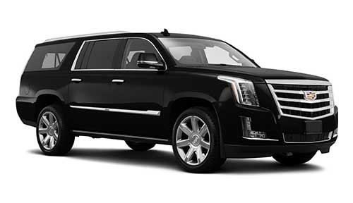 Side view of Cadillac Escalade available for rent from LimoRSVP in Chicago, IL